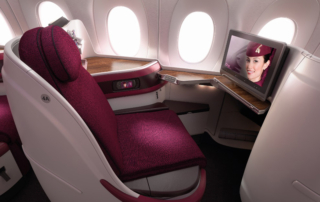 Qatar Airways' award winning A350 business class
