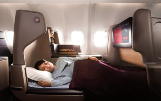 The Qantas Business Suite, currently on the A330s