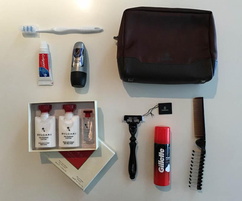 Emirates amenity kit