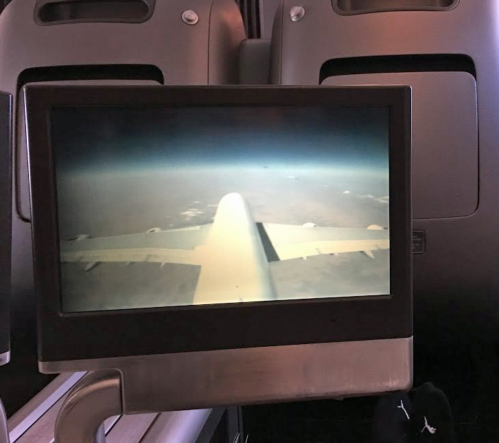 qantas entertainment screen a380 business class