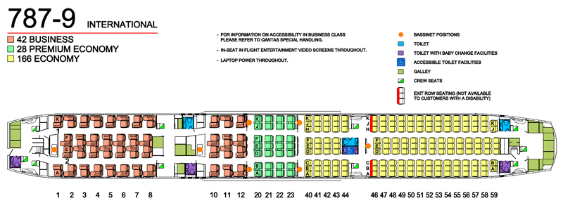 Qantas dreamliner seat map
