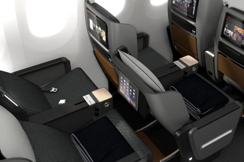 Qantas premium economy detail