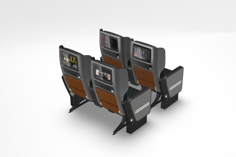 Qantas premium economy rear