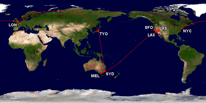 oneworld award itinerary