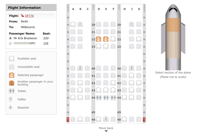 How to improve your seat on a Qantas flight 80 hours before ...